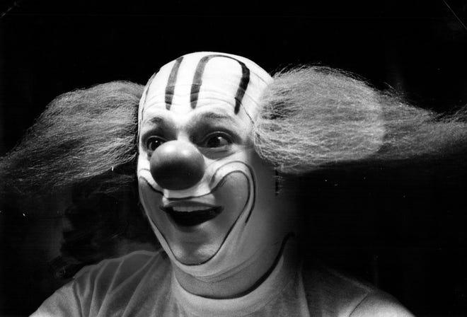 Art Cervi comme Bozo le Clown en 1979.