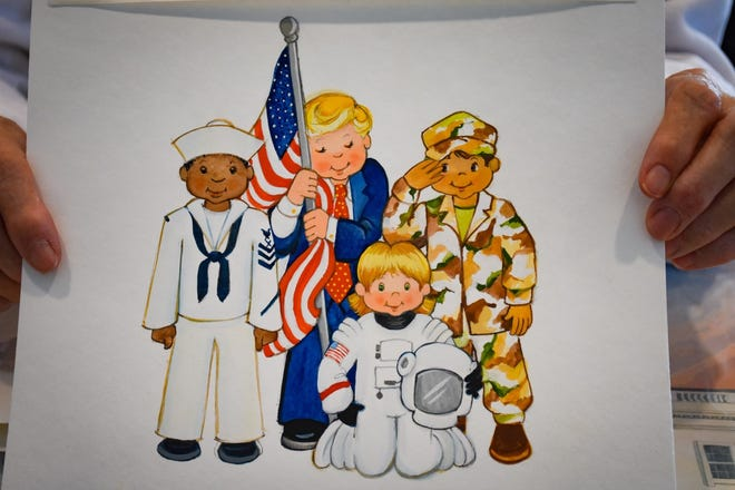 "In their ""Wee the People"" project, the  have incorporated people - such President Donald Trump, astronauts, and military personnel shown here - who have been integral to America's success."