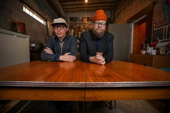 """Ghost of Vroom: Andrew """"Scrap"""" Livingston and Mike Doughty."""