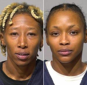 Aquianna L'Monique Brown, left, and Brittaney Latrice Hill-Brown