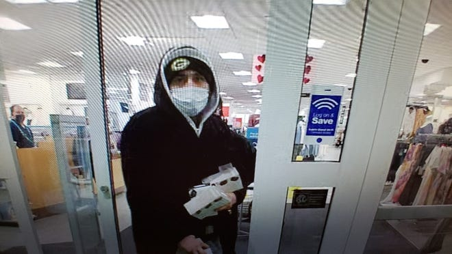 The Menomonee Falls Police Department is requesting help finding this person, who stole multiple Fitbit Versa II monitors from Kohl's in Menomonee Falls at about 5:52 p.m. Feb. 13.