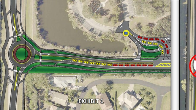 A roundabout at the intersection of Williams and River Ranch Roads meant to ease traffic backups around Estero High School is included in a River Ranch Road overhaul project.
