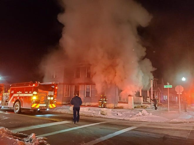 Newark firefighters responded to a house fire on Hudson Avenue in Newark on Wednesday, Feb. 17, 2021.