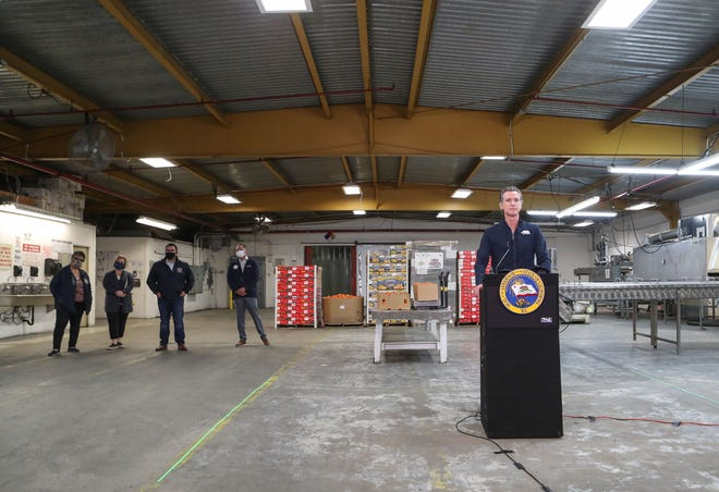 Newsom promises more vaccines for farm workers in Central Valley