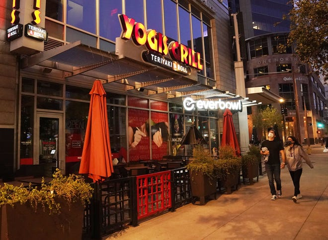 Yogis Grill on First Street in downtown Phoenix.