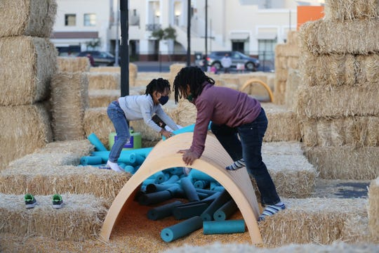 The Phoenix Children's Museum has opened its parking lot and more for a 20,000 square foot outdoor playground called Adventure Play.