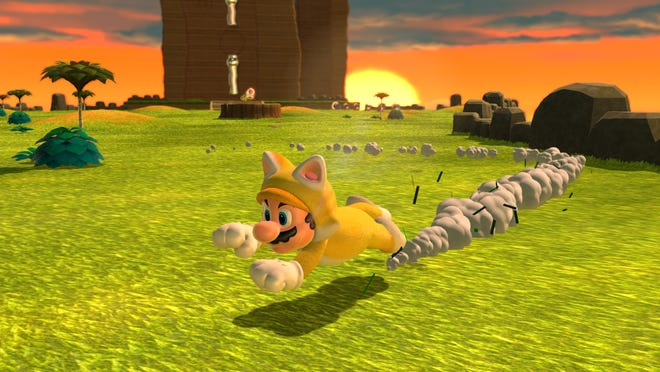 """Mario is a cat meme waiting to happen in""""Bowser's Fury,"""" included in the rerelease of the great """"Super Mario 3D World."""""""