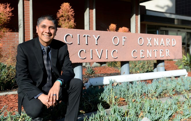 Gabe Teran, the new Oxnard city councilman, was sworn into office on Tuesday, Feb. 16, 2021. Teran was appointed to the City Council to fill the vacancy left by Carmen Ramirez.