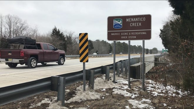 The southbound lane of Route 55 uses this bridge to cross Menantico Creek in southern Millville. It and its northbound counterpart are due for some anti-erosion work, the state says. CREDIT: Joseph P. Smith