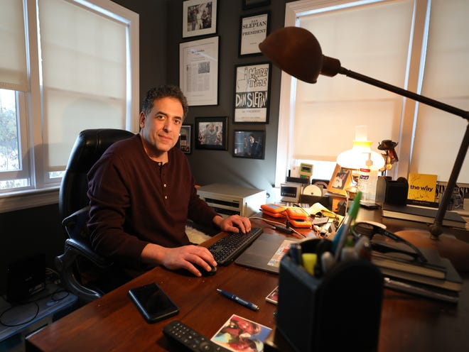 Dan Slepian, a supervising producer with Dateline NBC, has worked on a decade long investigation about Thomas Randolph. Here Slepian is pictured at his home office in Katonah, Feb. 17, 2021.