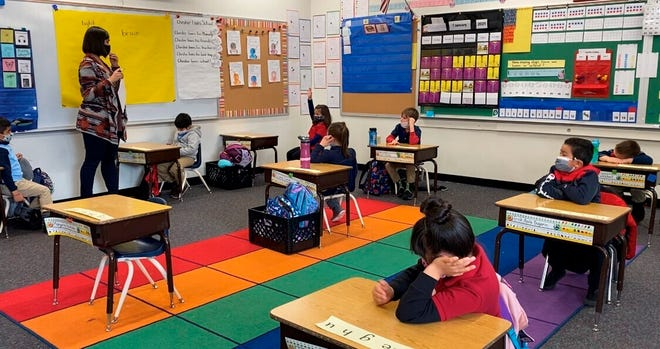 Alice Smith Elementary School on Jan. 29, 2021, in Reno, Nevada.
