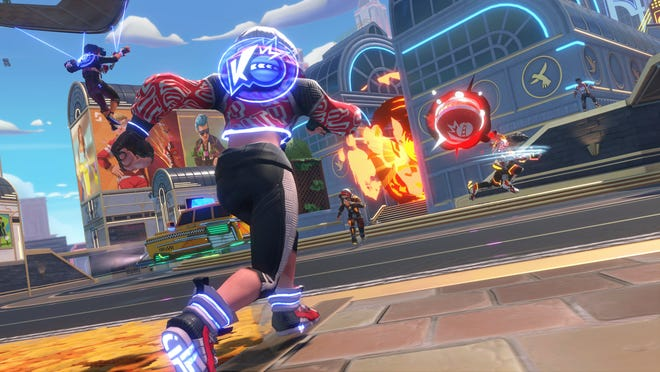 """The dodgeball-inspired video game """"Knockout City"""" will launch May 21."""
