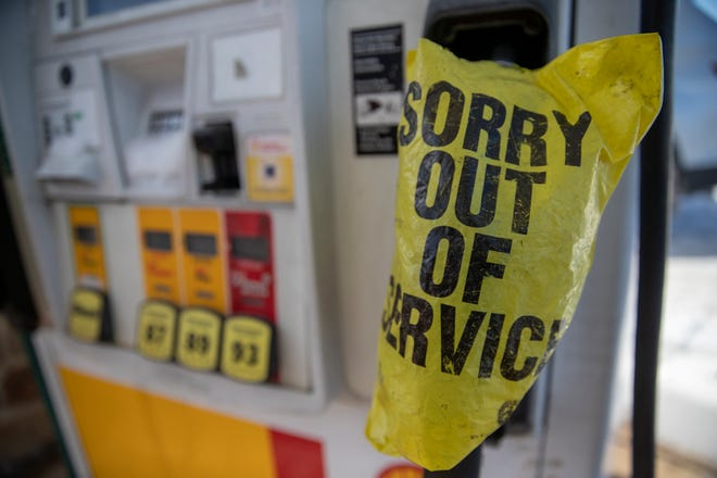 Pumps were empty at a gas station in Pflugerville last week, as the winter storm that hit Texas has led to gasoline supply shortages in some areas.