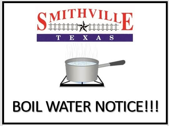 Smithville issued a boil water notice for its water customers on Thursday due to a drop in pressure in its water system.