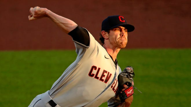 Shane Bieber of the Cleveland Indians was among the best pitchers in baseball last season, at least until meeting the New York Yankees in the playoffs. He will be counted on again to lead the team's rotation.