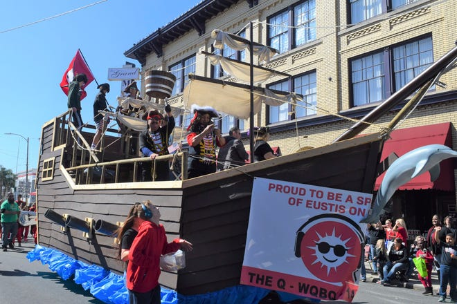 The pirate ship float by The Q - WQBQ 1410 won best float in the 2020 Georgefest parade.