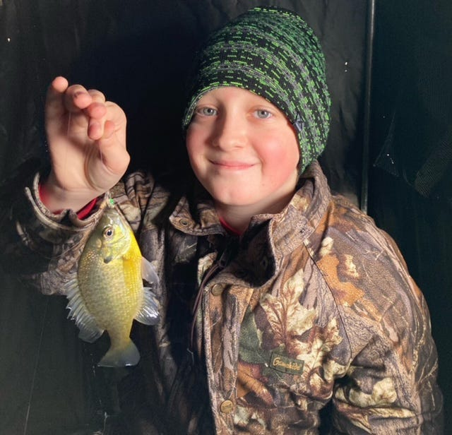 "Conor Kanode does a little bit of ""video game ice fishing"" as he spends time fishing with his grandpa, Outdoor Correspondent Art Holden."