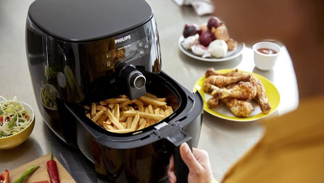 Air fryers are capable of cooking many foods, from French fries to chicken wings, pork, steak, fruits and veggies.
