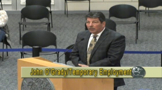 John O'Grady addresses the Deltona City Commission regarding a part-time position that would have him working on code enforcement. The commission voted 5-2 in support of the contract during the meeting on Monday, Feb. 15, 2021.