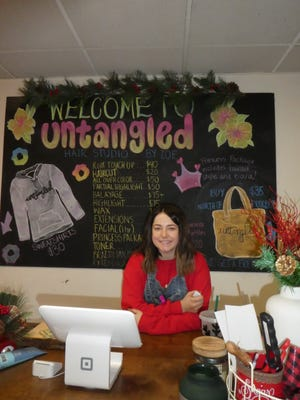 Zoe Rinker opened her salon, Untangled Hair Studio in Ellwood City, in November at the age of 19