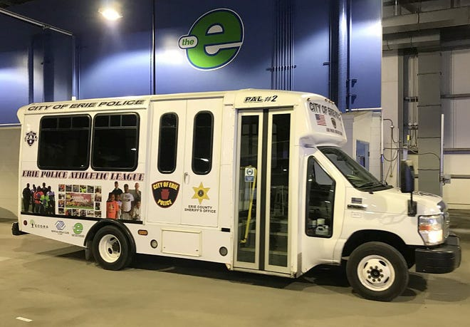 The Erie Metropolitan Transit Authority has donated two of its old lift buses to the Erie Police Athletic League for use in its youth mentoring programs. Erie officials unveiled the new buses at the EMTA facility on East 14th Street on Thursday.