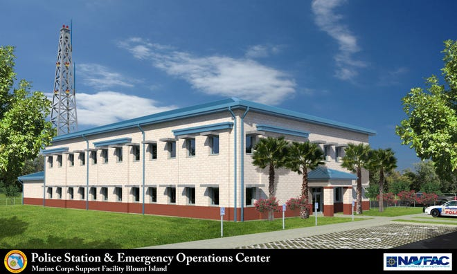 The U.S. Marine Corps Support Facility on Blount Island is getting a new police station and emergency operations center designed to be able to withstand hurricanes and sea-level rise.