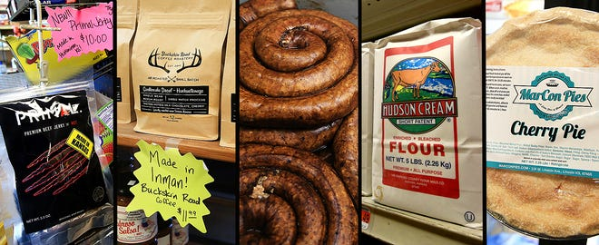 A variety of Kansas-made products are for sale at Buhler's Hometown Food Store.