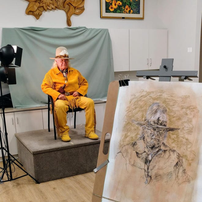Friday Morning Artists draw a live model each week, or if gathering virtually, participants will draw their own take on a portrait of a famous artist.