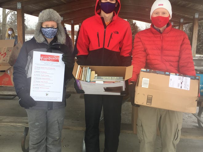 Thanks to everyone who helped the Page Turners, Jeremy Lavoie, Grant Putnam and Jason Dement, collect more than 2,000 books Feb. 15 to share the joy of reading by givers of books and to getters of books.