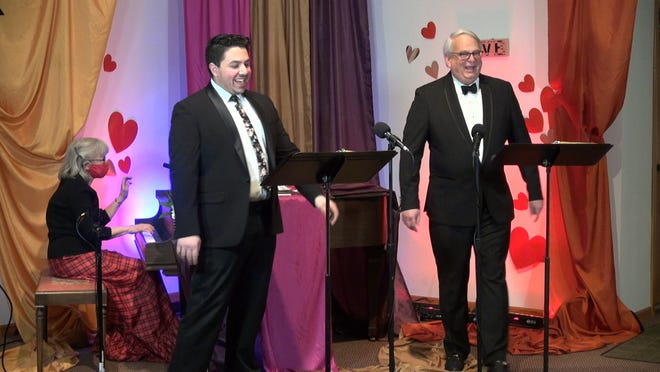 """Jacob Moore, Anne Wilson and Brian Suntken performed the music of Cole Porter at their cabaret """"My Funny Valentine"""" which raised important funds for the Shelter for Battered Women in Akron."""