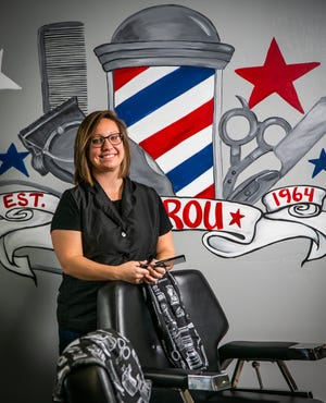 "Kirsten Henson has been a barber for the past two years. She is a third-generation barber and works at Sam Rou & Company with three other barbers and two cosmetologists. The shop closed down during COVID-19 last year for seven weeks. ""I tried to get unemployment, but I was turned down. Good thing my husband was working. The (pandemic) may have precipitated the return of the mullet,"" Henson said with a laugh."