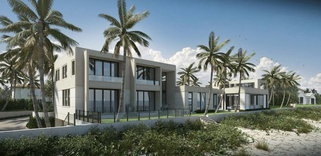 The Palm Beach Architectural Commission has told the architect to scale down this contemporary-style house designed for a beachfront lot at 1015 S. Ocean Blvd. in the neighborhood near Mar-a-Lago.