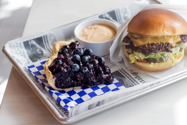 On the menu at Dad's Favorite Burgers: diner classics like smash-burgers and pies. SAMUEL THORNHILL/MAS APPETIT
