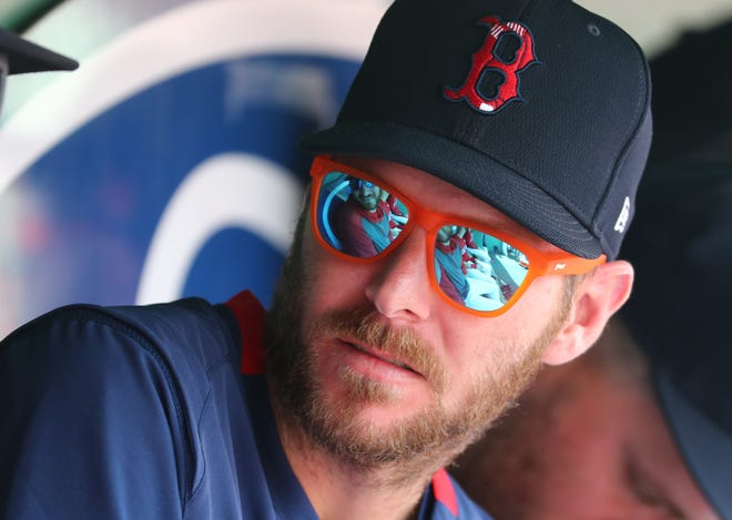 """Red Sox pitcher Chris Sale is working his way back from Tommy John surgery. He says he's not putting a time table on when he'll pitch again. """"The mound comes when it comes."""""""