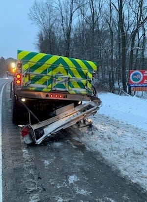 ODOT snowplow struck by passerby