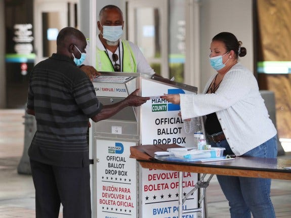 Florida's Republican-led Legislature looks at an array of new voting limits in advance of next year's governor's race. . (Photo by Joe Raedle/Getty Images)