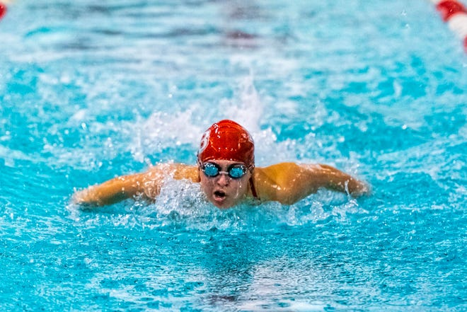 New Bedford's Kaeleigh Sousa battled back from a rare form of melanoma to swim for the Whalers this winter.