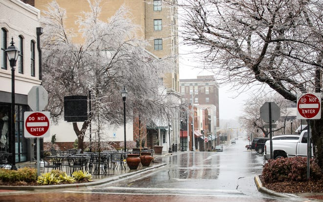 Streets remained empty Thursday morning across downtown Burlington.