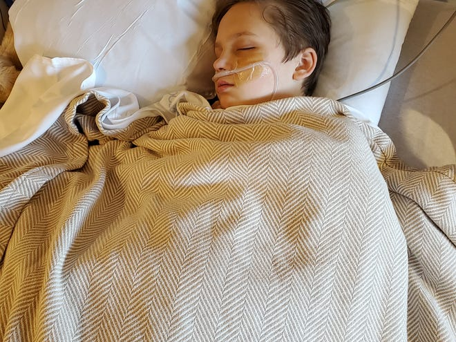 Rohen Stamey at Mission Hospital. Stamey, 12, suffered from a rare COVID-19 complication affecting children, known as Multisystem Inflammatory Syndrome in Children, or MIS-C.