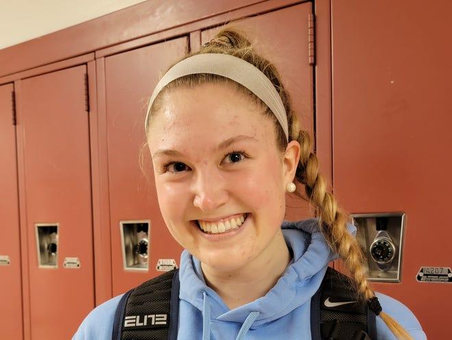 Shawnee senior Megan Heine is a forward for the 20201 Renegades basketball team