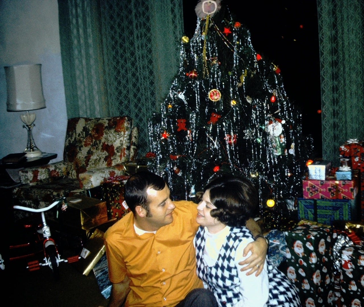 Lou and Patty Luiken at Christmas.