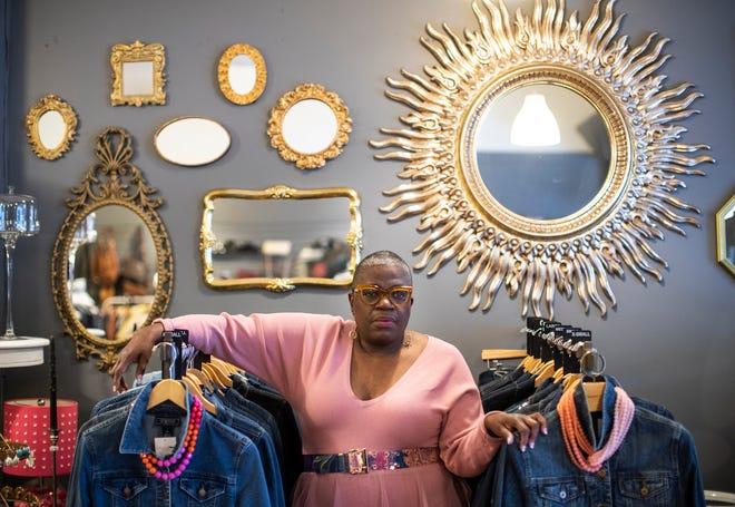 Je Donna Dinges of Grosse Pointe Park in her shop in Ferndale on Feb. 18, 2021.