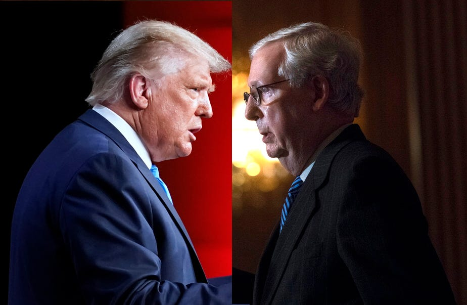Trump-McConnell feud threatens Republicans' path to power 2