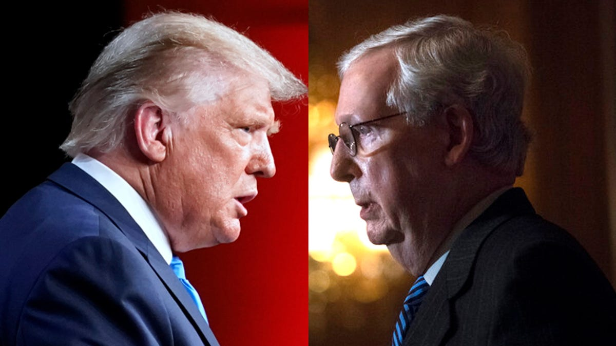 Trump-McConnell feud threatens Republicans' path to power 3