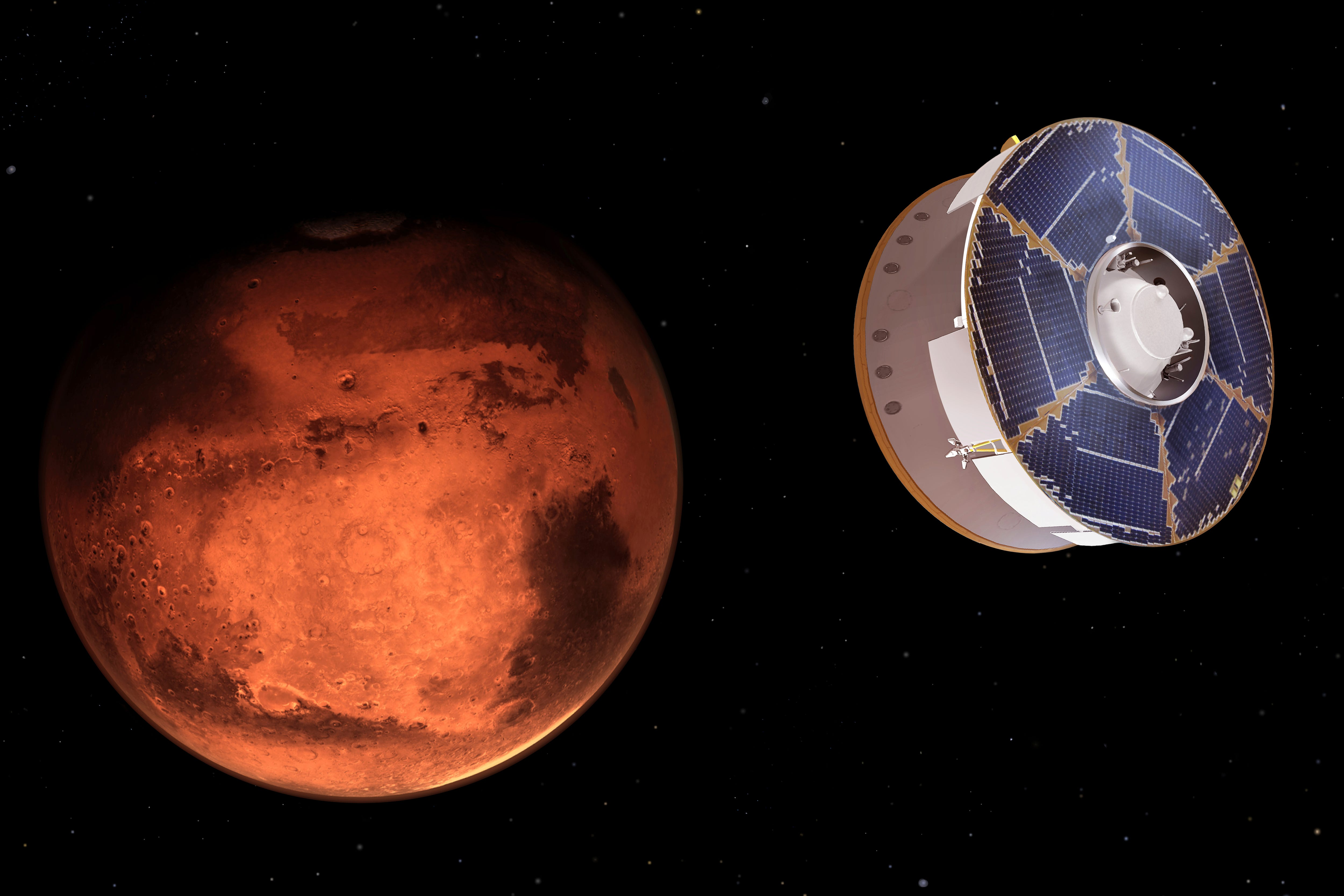 NASA rover streaks toward a landing on Mars 2