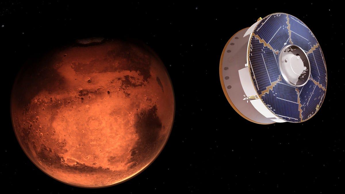 NASA rover streaks toward a landing on Mars 3