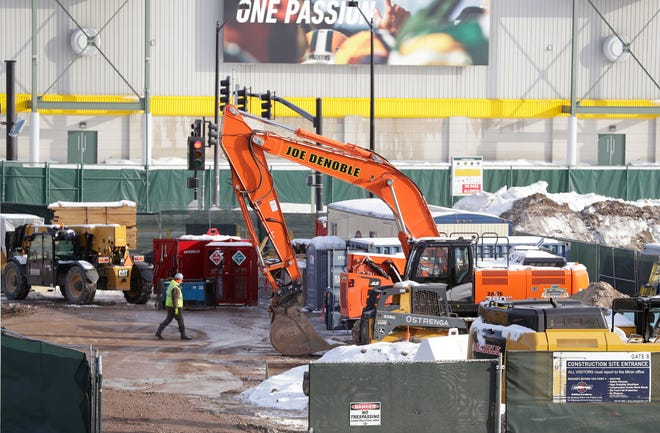 It's the NFL offseason, so that means construction projects at Lambeau Field. The Packers are modifying underground infrastructure in Lambeau Field's east parking lot.