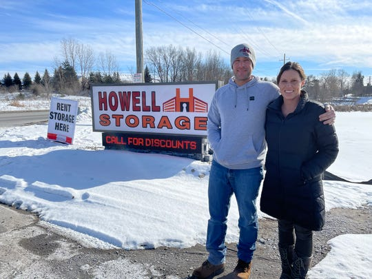 Jim and Carey Abraham have begun to upgrade a storage business they purchased in Marion Township, including a new sign on D-19 near Howell, shown Thursday, Feb. 11, 2021.