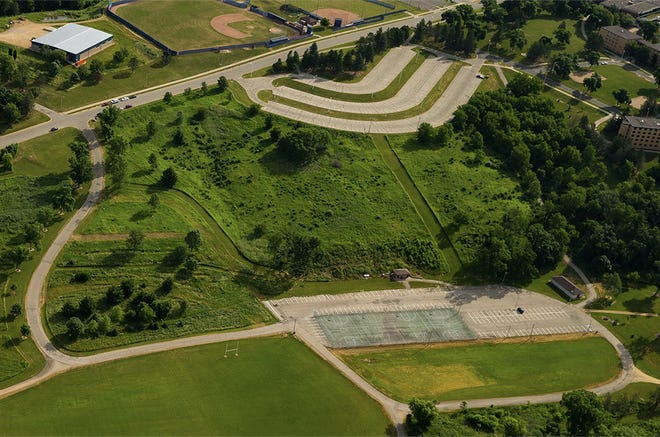 A photo of Memorial Park, where the 5-acre solar array will be installed at the University of Wisconsin - Platteville