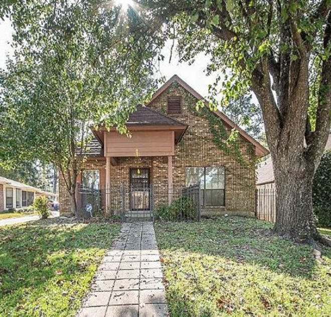 One adorable brick home at 3900 Elm Avenue in The Timbers is for sale for $119,900 and provides two bedrooms and two bathrooms within 1,574 square feet of living space.